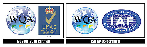 ISO 13485 AND 9001:2008 Certified